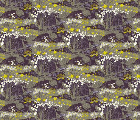 Midsummer Night fabric by vinpauld on Spoonflower - custom fabric