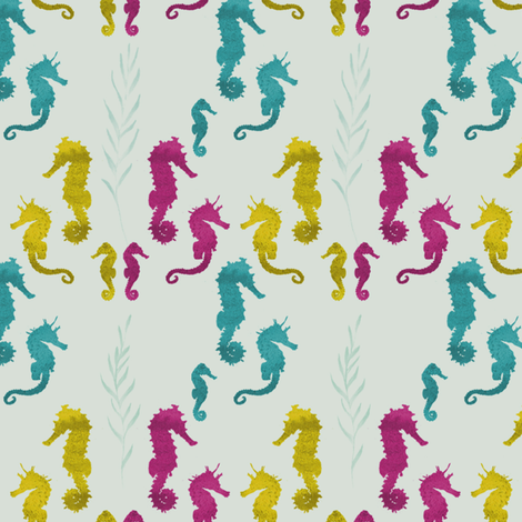 seahorse by youdesignme fabric by youdesignme on Spoonflower - custom fabric