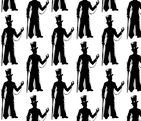 Inkblot Steampunk Gentleman fabric by art_rat on Spoonflower - custom fabric