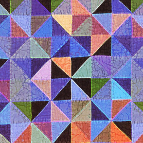 happy geometry cheater quilt