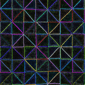 moonlight geometry cheater quilt