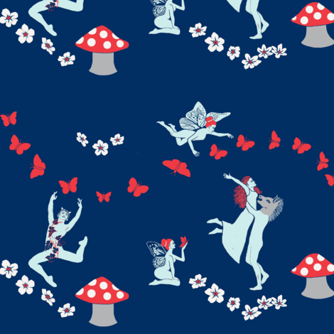 Shakespeare's Midsummer Melody fabric by magentarosedesigns on Spoonflower - custom fabric