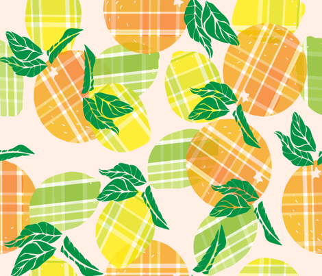 Citrus goes to plaid
