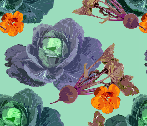 cabbages fabric by weejock on Spoonflower - custom fabric