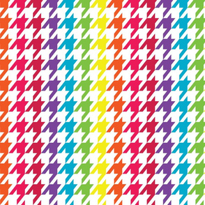 Rainbo Wave Houndstooth (Medium)