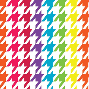 Rainbow Wave Houndstooth (Large)