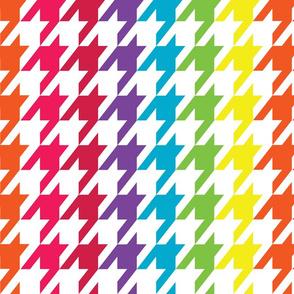 Rainbow Wave Houndstooth (Large)