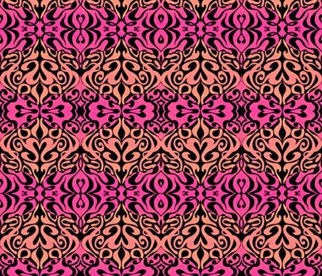 Just Peachy Warp fabric by whimzwhirled on Spoonflower - custom fabric