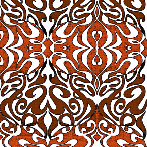 Warp pattern in rich red browns fabric by whimzwhirled on Spoonflower - custom fabric