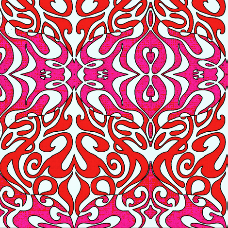 Warp in Pink and Red fabric by whimzwhirled on Spoonflower - custom fabric
