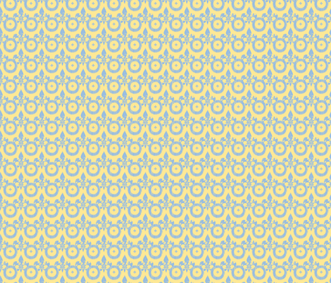 Fleur di lis on white-ch fabric by karenharveycox on Spoonflower - custom fabric