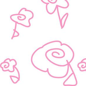 Mod Doodle Flowers Pink