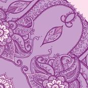 Paisley circle purple
