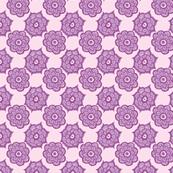 Paisley flowers purple
