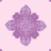 Paisley square purple