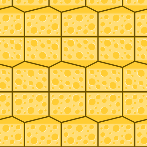 cheese wedges fabric by sef on Spoonflower - custom fabric