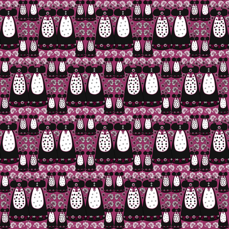 Victorian Long Black and Burgundy Dresses Collage Fabric  fabric by lworiginals on Spoonflower - custom fabric