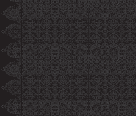 lacegreyblack-01-01 fabric by lazydee on Spoonflower - custom fabric