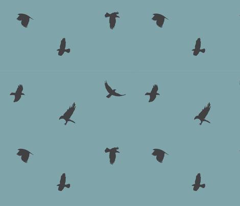 crowsblue-01 fabric by lazydee on Spoonflower - custom fabric