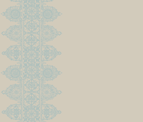 lace_big_blue_taupe-01 fabric by lazydee on Spoonflower - custom fabric