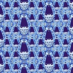 Victorian Blue Dresses Fabric #1
