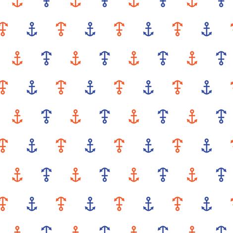 anchor_orange_blue fabric by lpt-workshop on Spoonflower - custom fabric