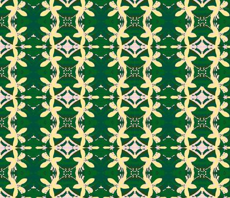 Garlands of Lemon Blossoms fabric by walkwithmagistudio on Spoonflower - custom fabric