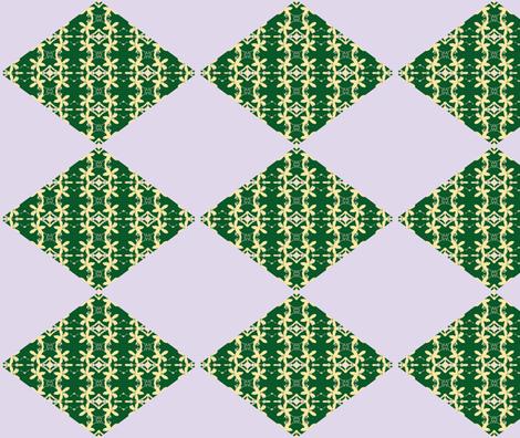 Diamonds of Lemon Blossoms fabric by walkwithmagistudio on Spoonflower - custom fabric