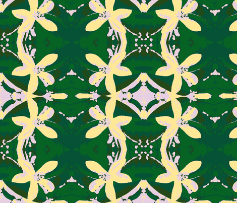Lemon Blossem - large print fabric by walkwithmagistudio on Spoonflower - custom fabric