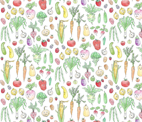 Produce With Personality fabric by imaginaryanimal on Spoonflower - custom fabric