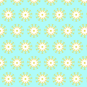 floral daisy days aqua