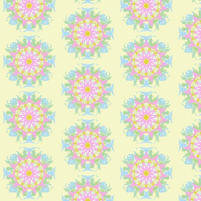 floral daisy days pink and yellow