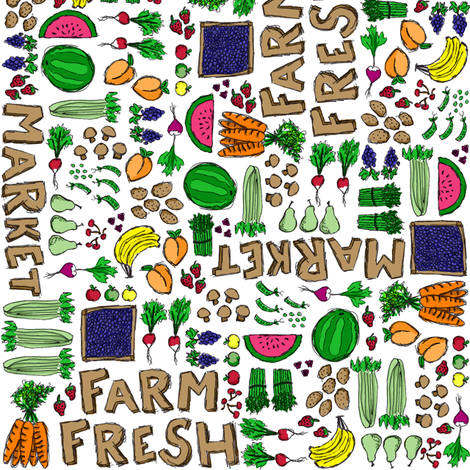 Farmer's Market Medley fabric by robyriker on Spoonflower - custom fabric