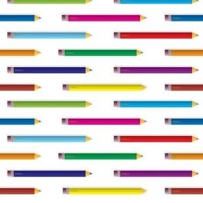 Colored pencil rainbow