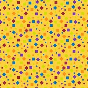 Confetti on Yellow