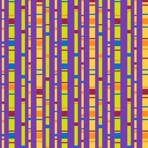 Confetti Stripes on Purple