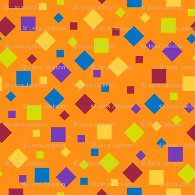 Confetti on Orange
