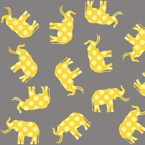 Yellow Polka Elephant