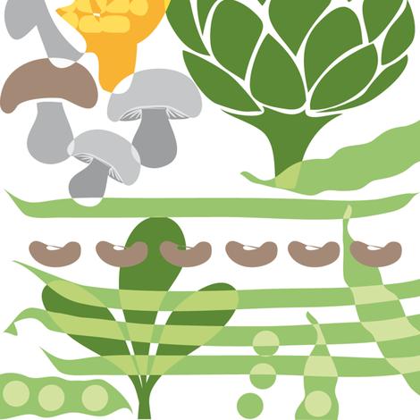 vegies fabric by johanna_design on Spoonflower - custom fabric