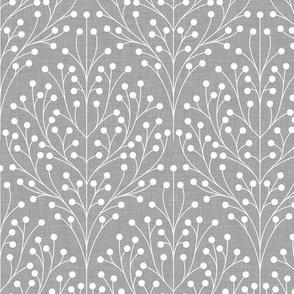 Berry shrub damask gray