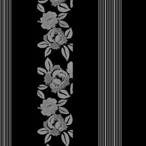 Peony garden_gray