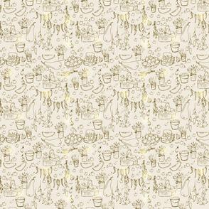 seamless farmer pattern