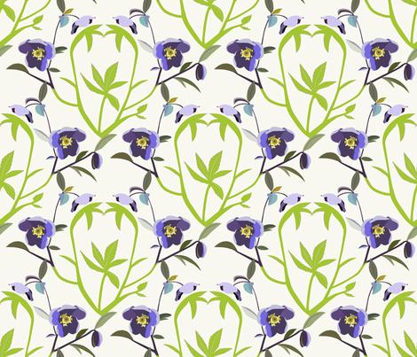 Helleborus fabric by alfabesi on Spoonflower - custom fabric