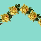 Hello Sweet Rose on Teal