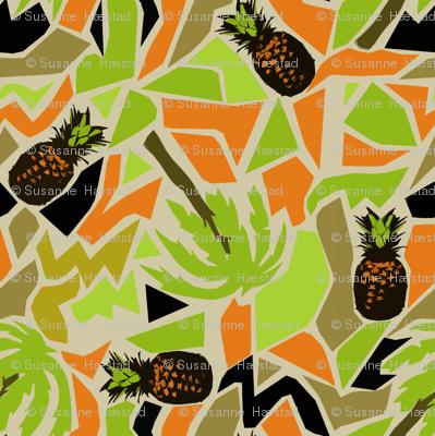 ananas and palm