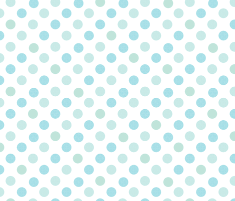 Polka Dot Charm Blues fabric by karenharveycox on Spoonflower - custom fabric