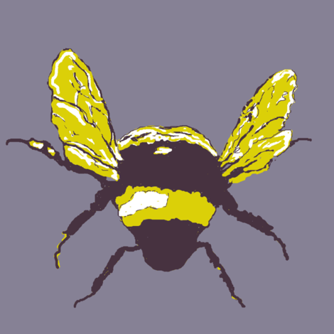 Bumble bee fabric by paragonstudios on Spoonflower - custom fabric
