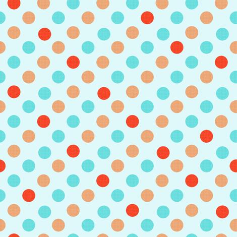 Polka Dot Fun, aqua background fabric by karenharveycox on Spoonflower - custom fabric