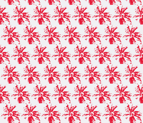 bee_balm_red_on_white fabric by tangledvinestudio on Spoonflower - custom fabric