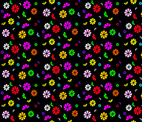 Bloom fabric by retroretro on Spoonflower - custom fabric